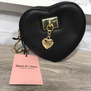 JUICY COUTURE Heart Charm City Coin Purse